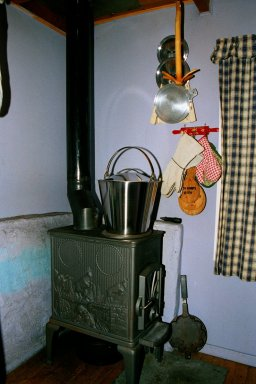 Fårikål simmering on the firewood stove